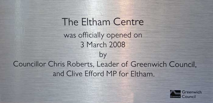 Eltham_Centre_opening_steel_plaque