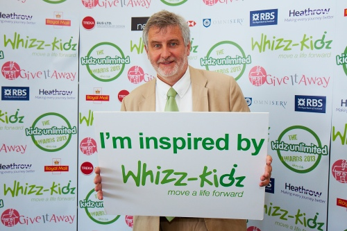Clive at Whizz Kidz awards 2013