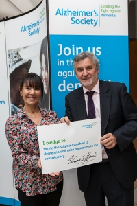 Clive Efford MP with Arlene Philips dementia